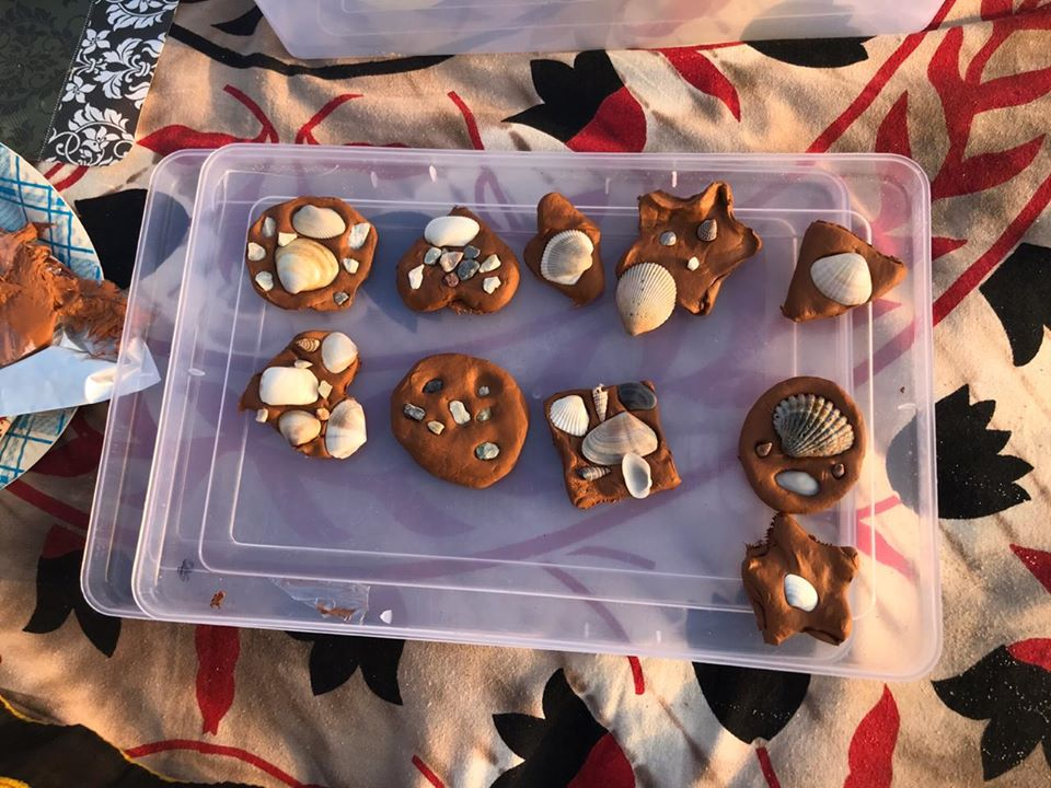 Fun with clay and shells